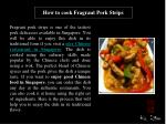 How to cook Fragrant Pork Strips