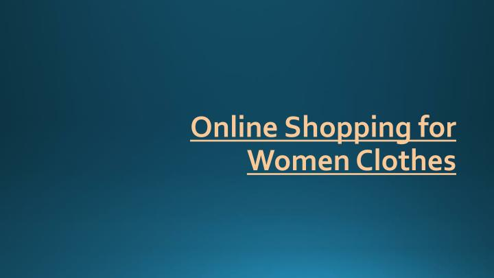 online shopping for women clothes n.