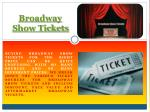Broadway Theater Tickets