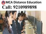 MCA Distance Education Admission 2015