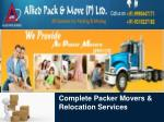 Complete Packer Movers and Relocation Services