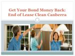 Get Your Bond Money Back: End of Lease Clean Canberra