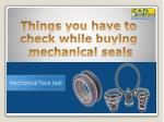 Buying Mechanical Seals