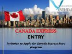 Canada Express Entry Rule 2015- An overview