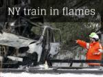NY train in flames