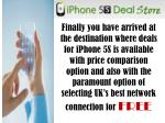 iPhone 5S Deals: All Best UK's Network Are Free For You