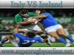 watch Ireland vs Italy live