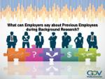 What can Employers say about Previous Employees during Backg