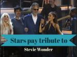 Stars pay tribute to Stevie Wonder