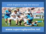 online rugby Italy vs England live