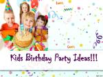 Kids birthday party ideas - The Paint Place