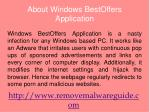 Remove Windows BestOffers Application:easy steps to uninstal